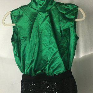 WEISSMAN dance costume Adult size MA M Green Black